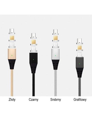 Kabel magnetyczny Micro USB / Apple /...