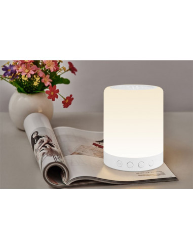 Kolorowa lampka LED z głośnikiem...